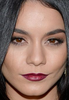 Close-up of Vanessa Hudgens at the 2015 HFPA and InStyle Golden Globes celebration. http://beautyeditor.ca/2015/11/23/best-beauty-looks-vanessa-hudgens