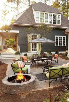 Backyard ideas - a marvellous information on tips. small backyard on a budget patio good Stone Patio Designs, Backyard Patio Designs, Pergola Patio, Backyard Landscaping, Landscaping Ideas, Backyard Ideas, Pergola Kits, Pergola Ideas, Diy Patio