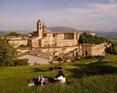 Panoramic view of Urbino, Marche, Italy