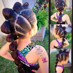 Sport a freaky hairstyle in wacky hair day at school. Check out our chic collection of crazy hair ideas such as soda bottle, vintage nest, doughnut bun etc. Lil Girl Hairstyles, Braided Hairstyles, Cool Hairstyles, Halloween Hairstyles, Toddler Hairstyles, Hairdos, Short Haircuts, Beautiful Hairstyles, Hairstyle Ideas