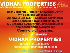 Vidhan Properties  Contactany Type Of Commercial  Hotel Leasing