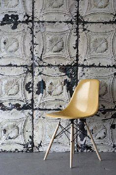 Brooklyn Tin Tiles industrial wallpaper comes in different colors and styles