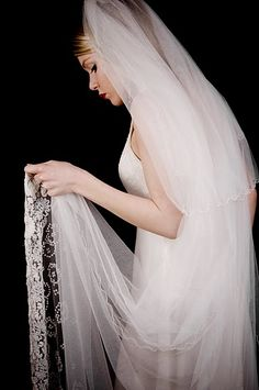 Vintage Embroidery veil  £1300 #wedding #veil