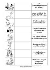 Lesen-Zuordnen-Schreiben - Grundschulmaterial-Fibel - Deutsch Klasse 1 - Grundschulmaterial.de Learn German, Learning, Group Work, Homework, Studying, Teaching, Onderwijs