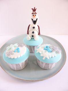 Cupcakes para aniversário de menina - Frozen