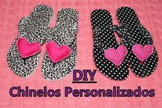DIY - Chinelos customizados com tecido - Vida de m