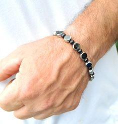 Mens bracelet Mens jewelry black & silver by JewelrybyDecember67, $35.00