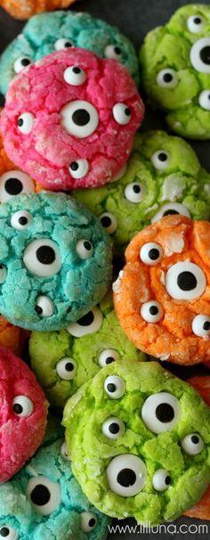 Gooey Monster Eye Cookies via Lil'Luna Blog