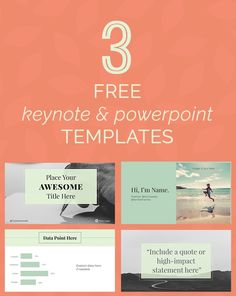 20 powerpoint templates you can use for free work pinterest 3 gorgeous free keynote powerpoint templatesthemes toneelgroepblik Image collections