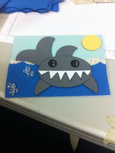 Shark birthday invite
