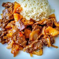 Asian Recipes, Healthy Recipes, Ethnic Recipes, Yams, Korean Food, Pulled Pork, Wok, Meal Prep, Food And Drink