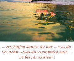 ... #erschaffen kannst du nur ... was du verstehst ~ was du verstanden hast ... ist bereits #existent !