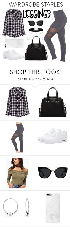 """""""Untitled #35"""" by cassiessins ❤ liked on Polyvore featuring Rails, Furla, Beyond Yoga, NIKE, Miss Selfridge, Quay, Bling Jewelry, Native Union, ootd and casualoutfit"""