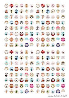 11 besten Digitale Vorlagen Bilder auf Pinterest | Bottle caps ...