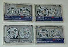 4 X PERMATON Chrom II 60 Cassetten - in Tonband-Optik !!  TOP
