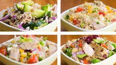 4 Tuna Salad For Weight Loss Easy Tuna Recipes Easy Tuna Recipes, Can Chicken Recipes, Healthy Recipes, Salad Recipes, Easy Meals, Healthy Salads, Egg Recipes, Brunch Recipes, Gastronomia