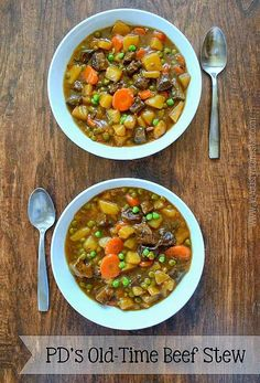 Old-Fashioned, wholesome and hearty beef stew made right on the stovetop and with a secret ingredient that makes this stew extra special.