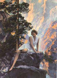 """""""Solitude""""  Maxfield Parrish 1931"""