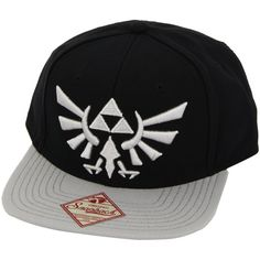595cd06f4a345 Amazon.com  Bioworld Nintendo Zelda Black Grey Men s Snapback Hat .