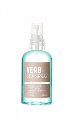 Cruelty-free, sulfate-free, paraben-free, and gluten-free hair spray. // Sea Spray by Verb