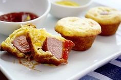 kid food--corn dog muffins