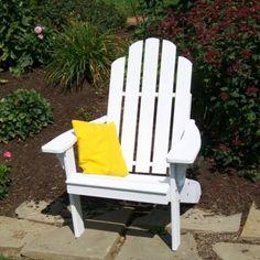 Yellow Pine Kennebunkport Adirondack Chair