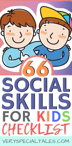 66 Social Skills for Kids: a comprehensive list of social skills for kids covering areas like communication, listening, participation, emotions and problem solving socialskillsforkids Social Skills Lessons, Social Skills For Kids, Social Skills Activities, List Of Skills, Lessons For Kids, Coping Skills, Life Skills, Shape Activities, Group Activities