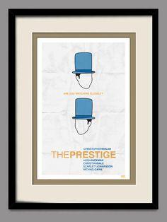 The Prestige Retro Movie Poster 11x17 Print by joneallen on Etsy, $15.00