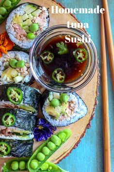 Homemade sushi, healthy, gluten free, delicious!