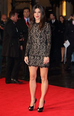 "Sandra Bullock at the London Film Festival premiere of her film ""Gravity"" on Oct.10,2013"