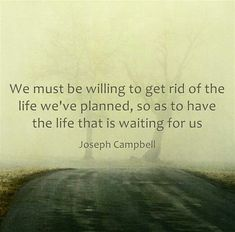 We must be willing to let go of...