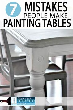 7 Common Mistakes Made Painting Kitchen Tables - Painted Furniture Ideas Learn how to paint your kitchen table correctly. Avoid these major mistakes while remodeling your kitchen! Paint Furniture, Kitchen Furniture, Furniture Makeover, Home Furniture, Furniture Ideas, Furniture Refinishing, Repurposed Furniture, Furniture Repair, Furniture Movers