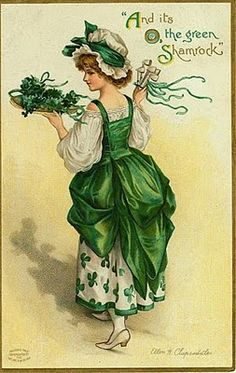 Alphonse's Room: Vintage St. Patrick's Day Cards - And it's the Green Shamrock