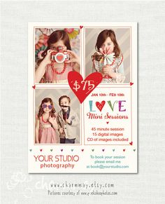Valentine's Day Mini Session Photography Template by charmmay Photography Templates, Photography Pricing, Photography Marketing, Photography Branding, Photography Business, Valentine Mini Session, Valentines Day Photos, Photography Mini Sessions, Photo Sessions