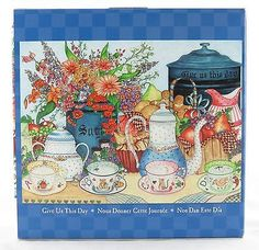 2 of 2: Give Us This Day 1000 Piece Jigsaw Puzzle Ellen Stouffer NEW tea table time art
