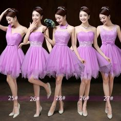 2016 Lady's Short Dreamy Purple Bubble Skirt Bridesmaid Formal Dress Wedding Girls Dresses, Prom Dresses, Formal Dresses, Bubble Skirt, Lavender Blue, Short Prom, Pink Shorts, Tulle Dress, Kids Outfits