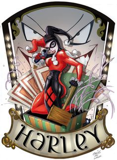Always Loved Harley Quinn. Harley Quinn by Chris De Lara Comic Book Characters, Comic Character, Comic Books Art, Comic Art, Cosplay Characters, Pinup Art, Catwoman, Harley Quinn Et Le Joker, Harley Queen