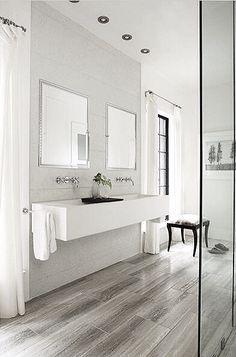 Classical minimalist bathroom