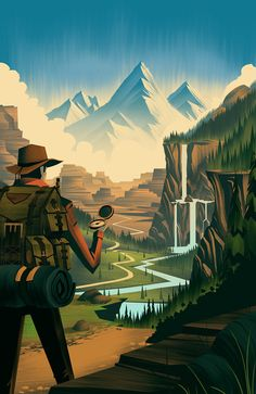 Outdoorsy illustration by Colorado artist Brian Edward Miller Art And Illustration, Illustrations Posters, Art Graphique, Art Design, Oeuvre D'art, Vector Art, Illustrators, Graphic Art, Graphic Design