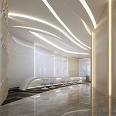 false ceiling and wall panels go well together here...