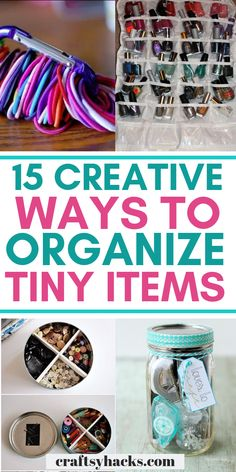 15 Creative Ways to Organize Small Items - Melissa K. - 15 Creative Ways to Organize Small Items Use these creative ways to organize tiny items at home. Definitely some of the organizing hacks you should try at home to keep it clean and neat. Organisation Hacks, Organizing Hacks, Planning And Organizing, Office Organization, Cleaning Hacks, Organizing Solutions, Clothing Organization, Organization Station, Household Organization