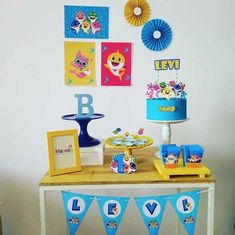 Birthday Party Tables, Boy Birthday, Hedgehog Birthday, Flamingo Wallpaper, Shark Party, Super Party, Party In A Box, Baby Shark, Party Packs