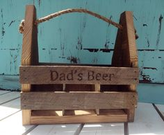 Rustic chic Barn wood tote, wooden beer caddy, handcrafted beer tote, Father's Day