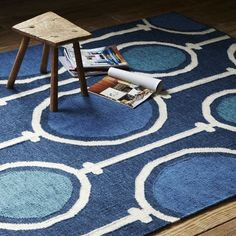 West Elm offers modern furniture and home decor featuring inspiring designs and colors. Create a stylish space with home accessories from West Elm. Bleu Indigo, Indigo Colour, Room Rugs, Area Rugs, Pantone, West Elm Rug, Dhurrie Rugs, Decoration Inspiration, Decor Ideas