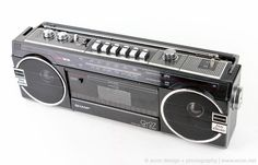 MINT VINTAGE SHARP QT27 MINI STEREO BOOMBOX RADIO CASSETTE RECORDER JAPAN TESTED #SHARP
