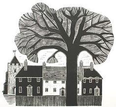 Carol Seatory: Printmaker Robert Tavener = another big art crush Linocut Prints, Poster Prints, Art Prints, Block Prints, Art And Illustration, 8th Grade Art, Linoprint, Black And White Drawing, Woodblock Print