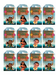 Free Moana - Favor bag tags.
