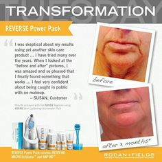 Regimen combined with the beauty tools can accelerate the results!  www.hannahtran.myrandf.com