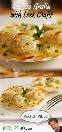 Scallops in a Parmesan cheese sauce and leek stew  The marriage of leeks and scallops had to be sent from the heavens. If you're looking at impressing your friends, your Valentine or VIP guests, then look no further then this divine dish.