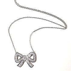 Lizzie Scheck Jewelry. 14-kt white gold%u2013 and%u2013pav� diamond necklace, $895, by Lizzie Scheck Jewelry.